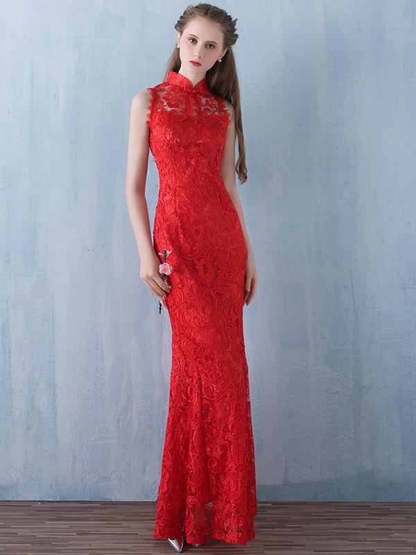 Mermaid Lace Qipao / Cheongsam Wedding Dress