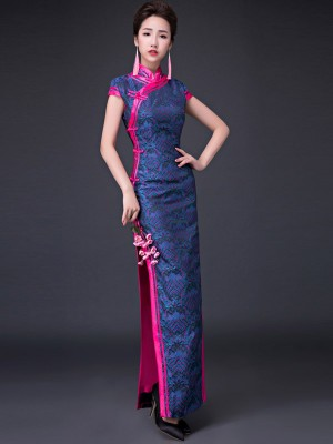 Mandarin Collar Qipao / Cheongsam Prom Dress with Split