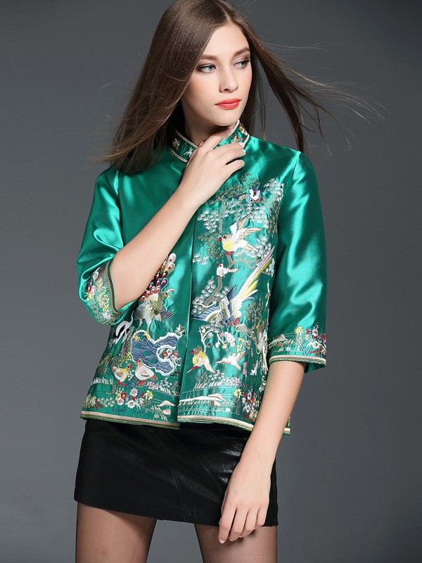 Sweet Day Embroidered Qipao / Cheongsam Jacket