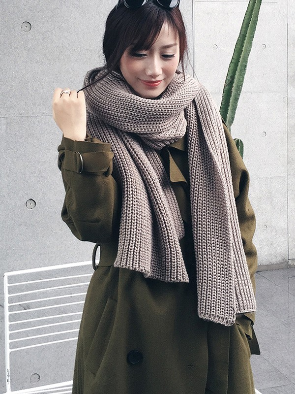 8 Color Options, Couple's Knit Long Scarf