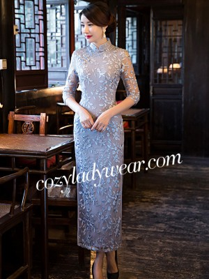 Inherent Chic Lace Qipao / Cheongsam Dress with Split