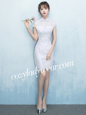 Short Lace Qipao / Cheongsam Party Dress