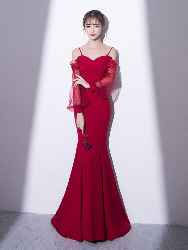Custom Made Sweetheart Mermaid Gown with Cutout Back