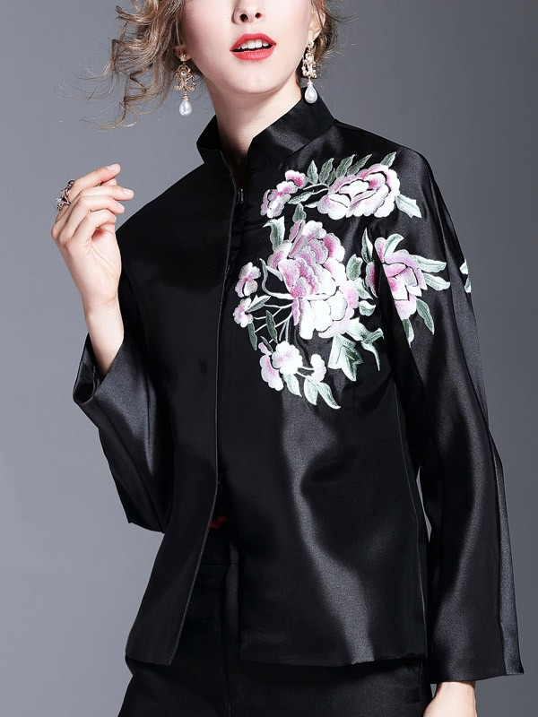 Gorgeous Embroidered Qipao / Cheongsam Top Jacket