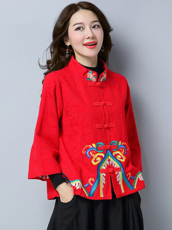Vintage Embroidered Qipao Tang Jacket
