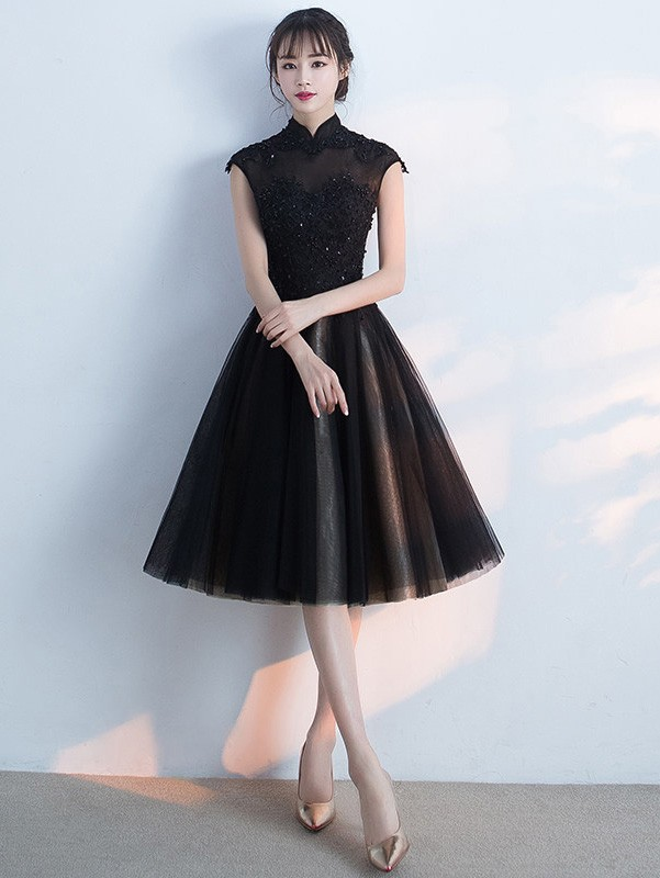 29b29a21 Black Midi Party Dress Image collections - Black Dress Ideas