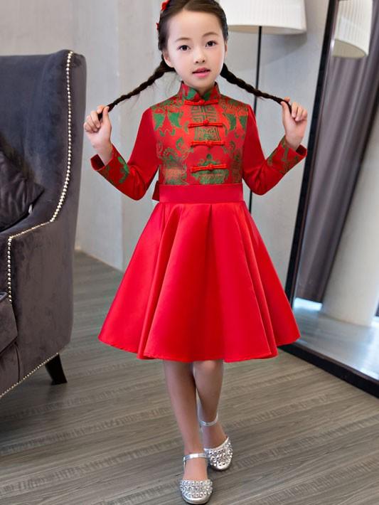 Kids Fit Flare Cheongsam / Qipao Dress