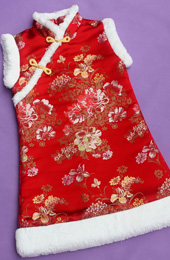 Silk Kids Cheongsam / Qipao / Chinese Dress for Winter
