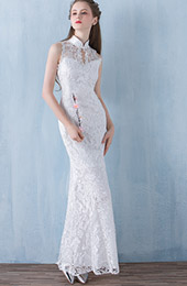 Mermaid Lace Qipao / Cheongsam Wedding Dress