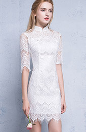 Half Sleeves Qipao / Cheongsam Dress in Lace
