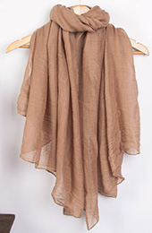21 Color Options, Long Wrap Scarf in Linen