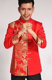 Red Dragon Men's Wedding Jacket
