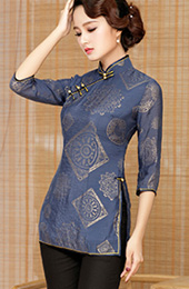 Half Sleeve Qipao / Cheongsam Top Blouse