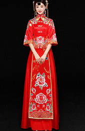 2018 Embroidered Phoenix Qun Kwa, Xiu He Fu for Wedding