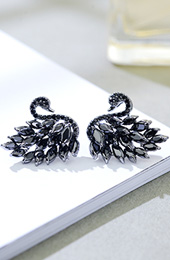 Black Swan Stud Earrings