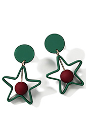 Colorblocked Geometric Star Stud Earrings