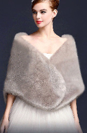 Faux Fur Shawl Wedding Wraps for Brides and Bridesmaids