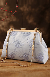 Lace Chain Strap Clutch Purse Bag