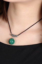 Green Agate Handmade Adjustable String Necklaces