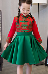 Kids Fit Flare Cheongsam / Qipao Dress
