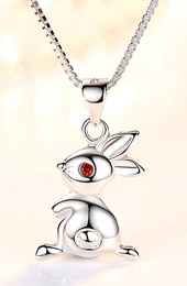 12 Zodiac Animals Silver Pendant Necklace Christmas Birthday Gift