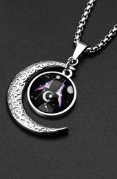 Stainless Steel 12 Constellation Zodiac Pendant Necklace