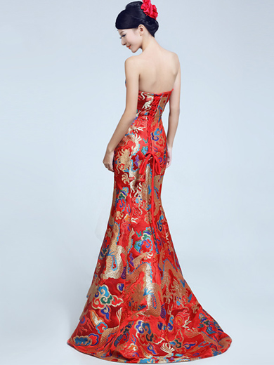 Fishtail Cheongsam / Qipao / Chinese Wedding Dress