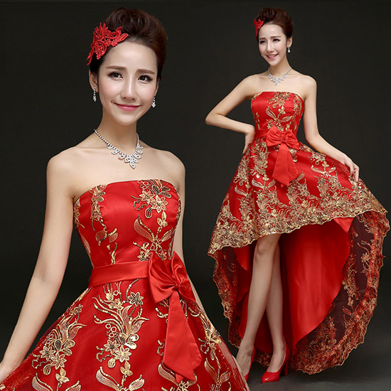 Bandeau Cheongsam / Qipao / Chinese Wedding Dress