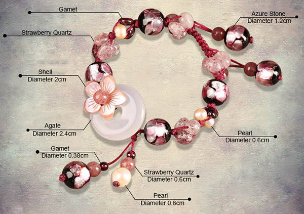 Strawberry Quartz String Bracelets, Handmade Bracelet