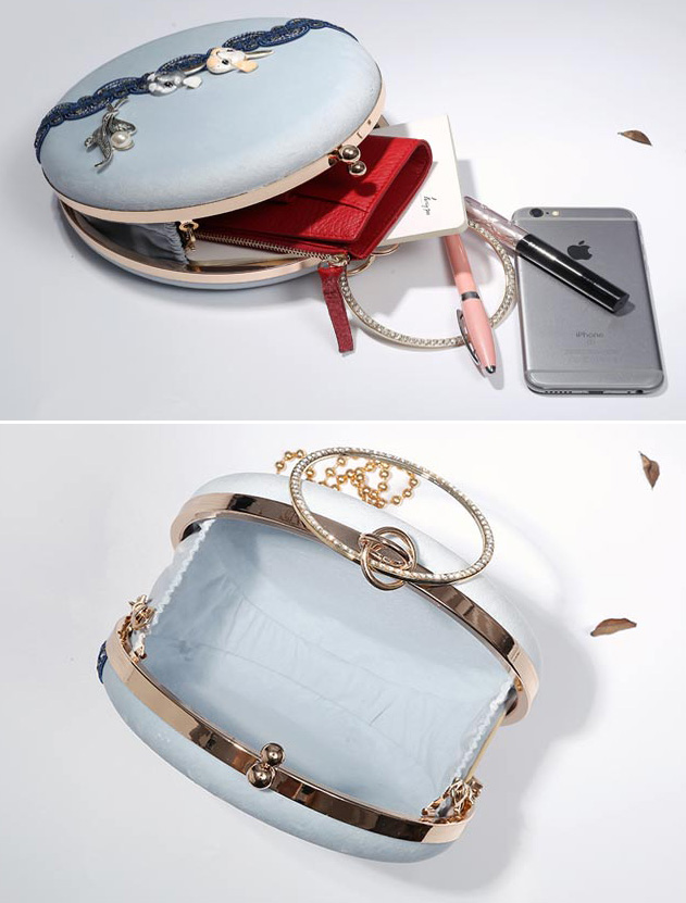 Rabbit Chain Strap Ring Wristlet Bag