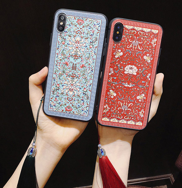 China Royal Court Pattern Tassel iPhone Case